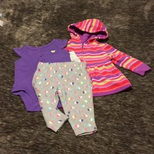 2 Piece Outfit Carter's & Jacket Size 3 Mos NWT